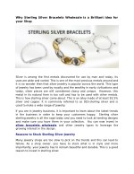 why sterling silver bracelets wholesale