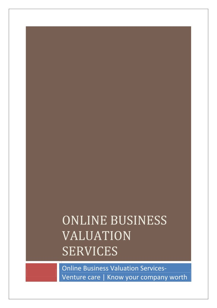 online business valuation services n.