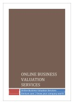 online business valuation services