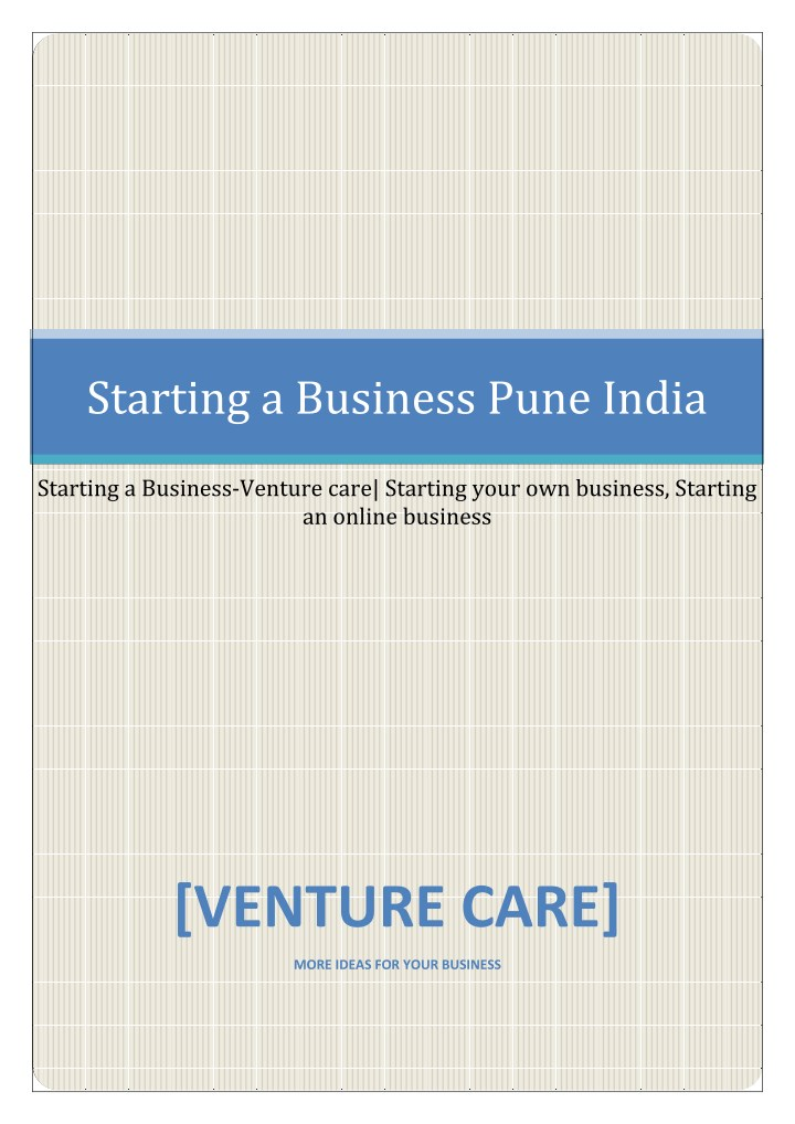 starting a business pune india n.