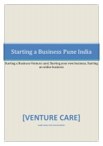 starting a business pune india