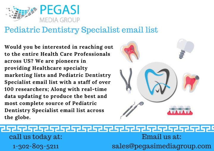 pediatric dentistry specialist email list n.