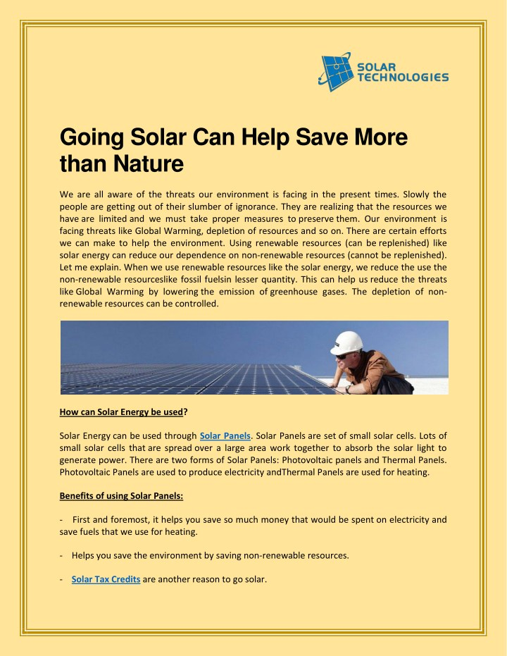 going solar can help save more than nature n.