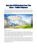 etfe is going publically popular and is being