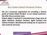 buy chakra metal pendants online