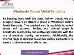 wholesale chakra metal pendants