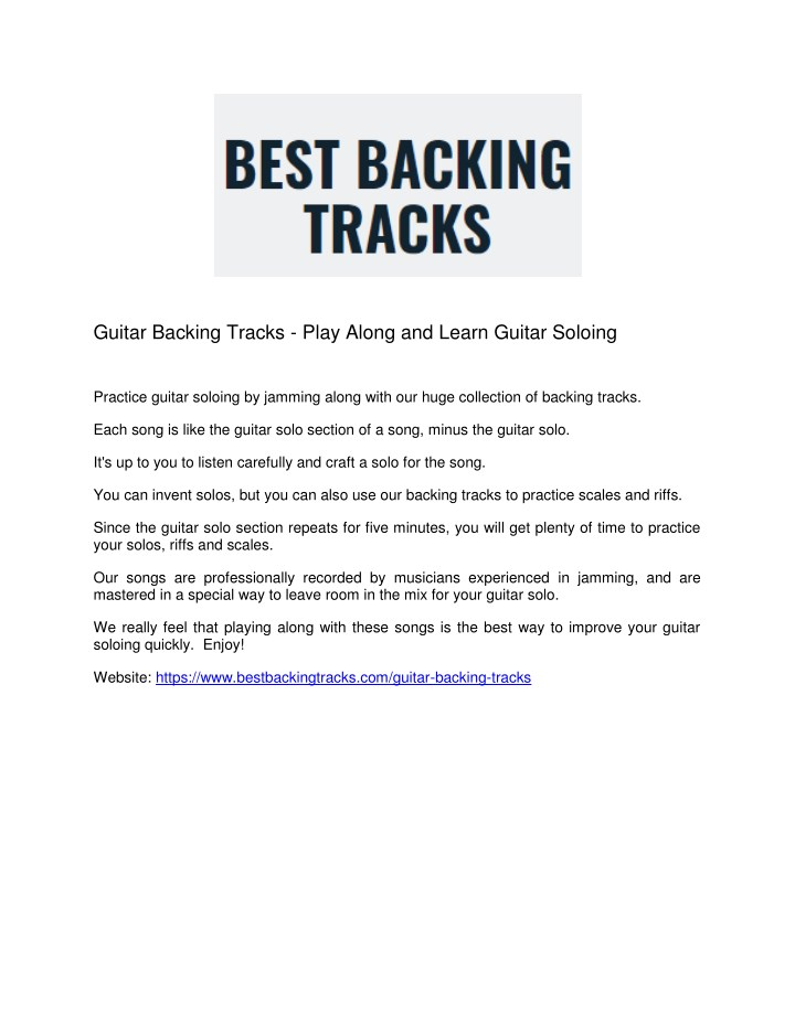 guitar backing tracks play along and learn guitar n.