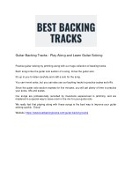 guitar backing tracks play along and learn guitar