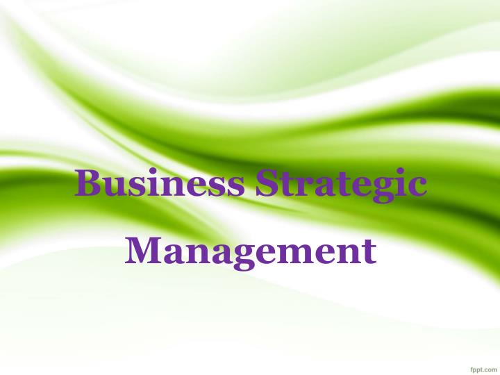business strategic management n.