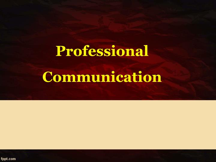 professional communication n.
