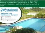 swimming pool contractors and maintenance company