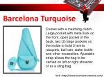 barcelona turquoise