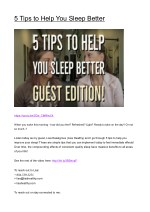 5 tips to help you sleep better