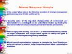 advanced management strategies q1 write
