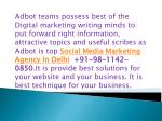 adbot teams possess best of the digital marketing