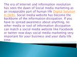 the era of internet and information revolution