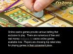online casino games provide various betting that