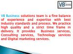 vb business solutions team is a fine balance