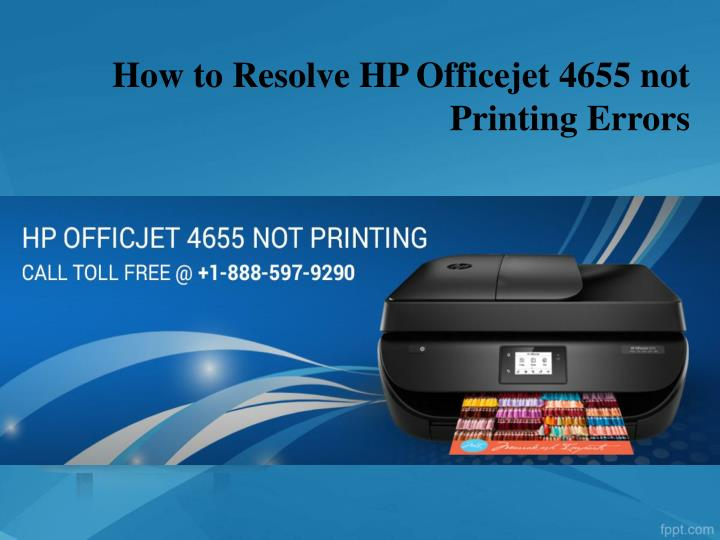 how to resolve hp officejet 4655 not printing errors n.