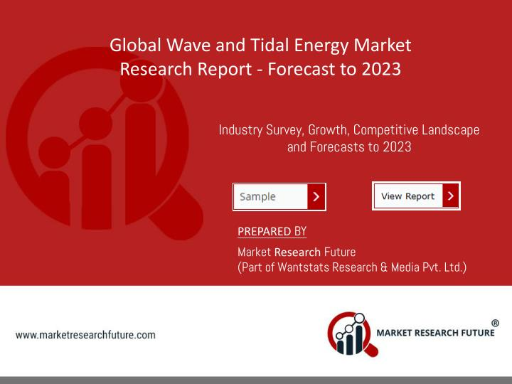 global wave and tidal energy market research n.