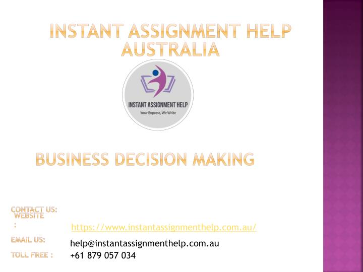 business decision making n.