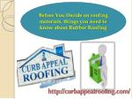before you decide on roofing materials things