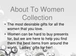 about to women collection