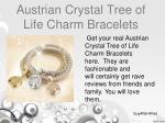 austrian crystal tree of life charm bracelets