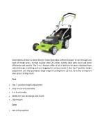 greenworks 25022 12 amp electric motor provides