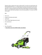 would you like to improve your grass cutting