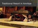 traditional resort in amritsar