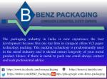 the packaging industry in india is now experience