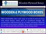 wooden plywood boxes