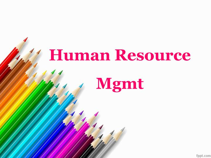 human resource mgmt n.