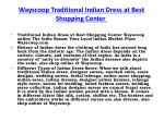 wayscoop traditional indian dress at best shopping center 1