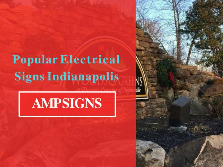 popular electrical signs indianapolis n.