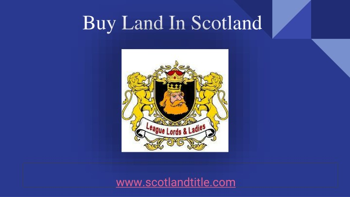 buy land in scotland n.