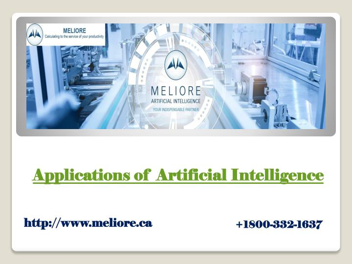 a pplications of artificial intelligence n.