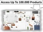 access up to 100 000 products