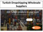 turkish dropshipping wholesale suppliers