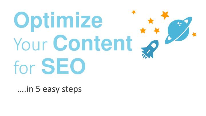 optimize your content for seo n.