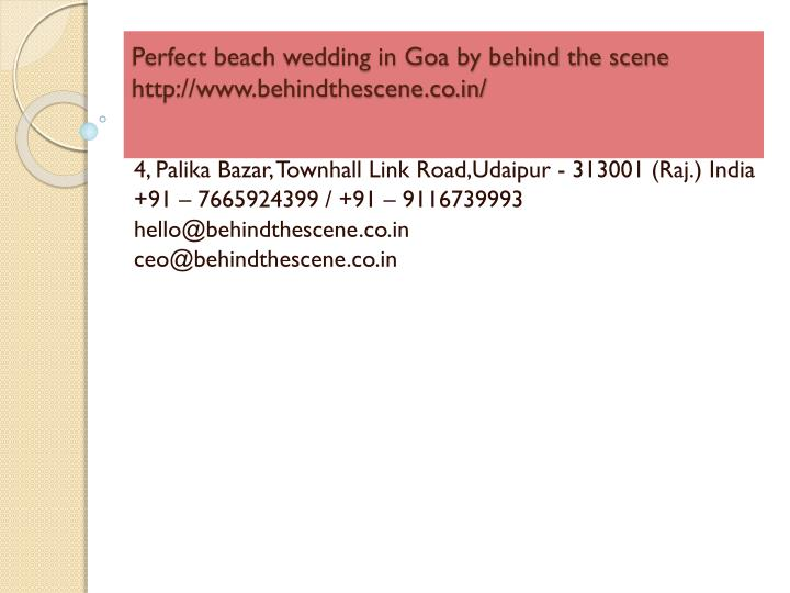 perfect beach wedding in goa by behind the scene http www behindthescene co in n.