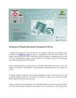 advantages of hospital information management