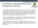 advantages of hospital information management software