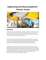 engineering and heavy equipment pioneer travels