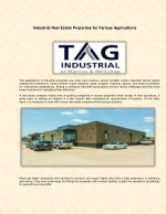 industrial real estate properties for various