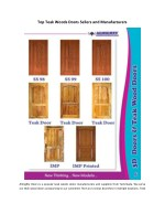 top teak woods doors sellers and manufacturers