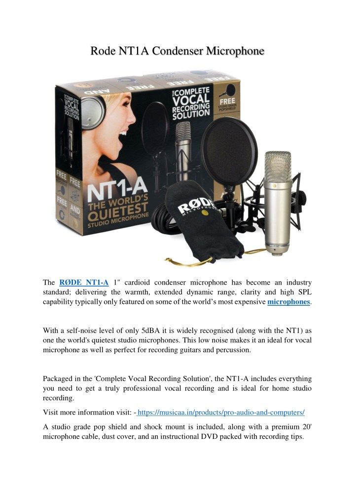 rode nt1a condenser microphone n.