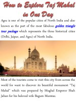 agra is one of the popular cities of north india