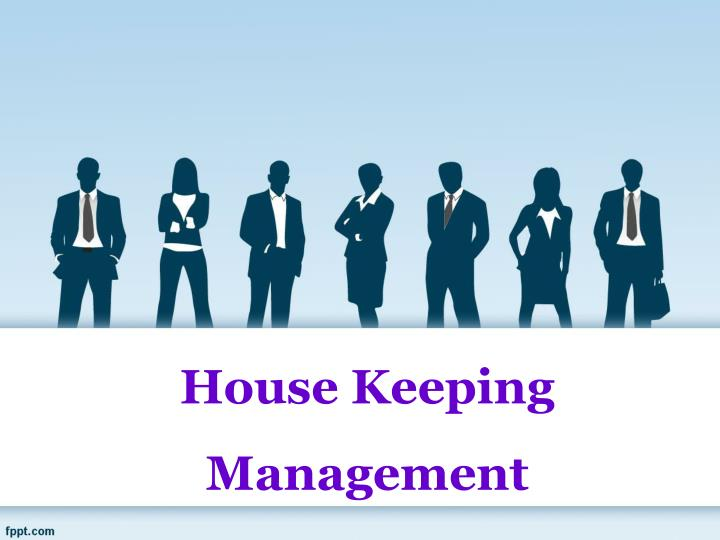 house keeping management n.